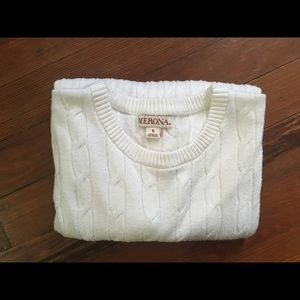 White slim fit sweater